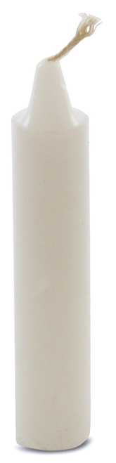 "Candle, 4"" white"