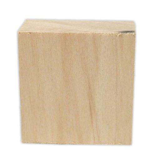 """Wood block, 1.5 x 1.5 x 0.75"""""""