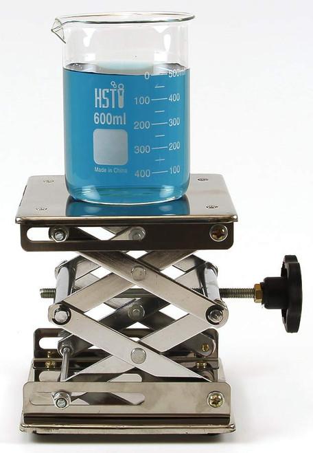 "Laboratory Scissor Jack, 6"" x 6"", stainless steel"