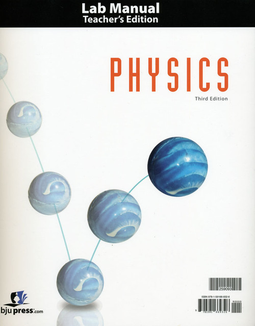 Bob Jones Physics 12 Teacher's Lab Manual