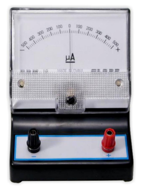Galvanometer, -500 to 500 uA