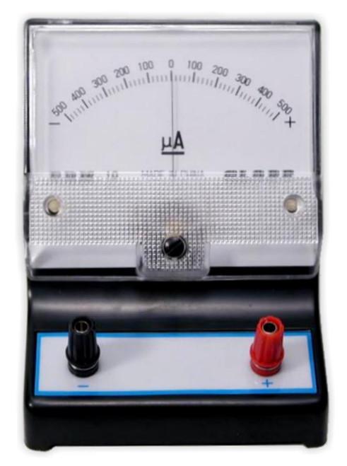 Galvanometer, -500 to 500 uA
