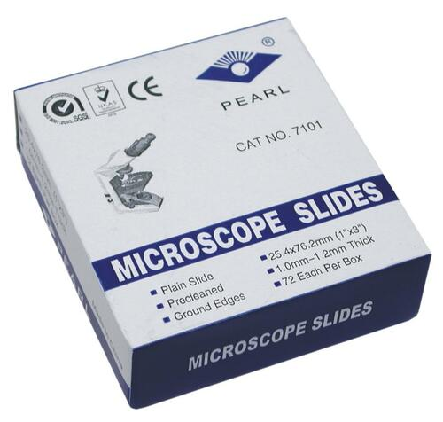 Microscope Slides, plain glass, 72 pack
