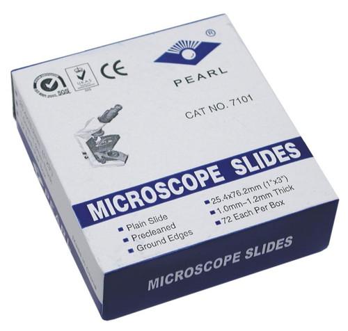 Microscope Slides, plain glass, 72 pack