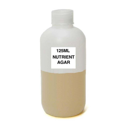 Nutrient Agar, Prepared Media Bottle, 125 ml