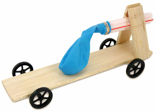 Balloon & Rubber Band Race Car Kit