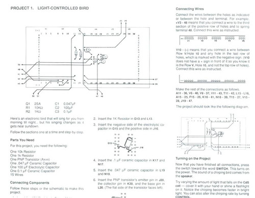 electronics project kit instruction sheet