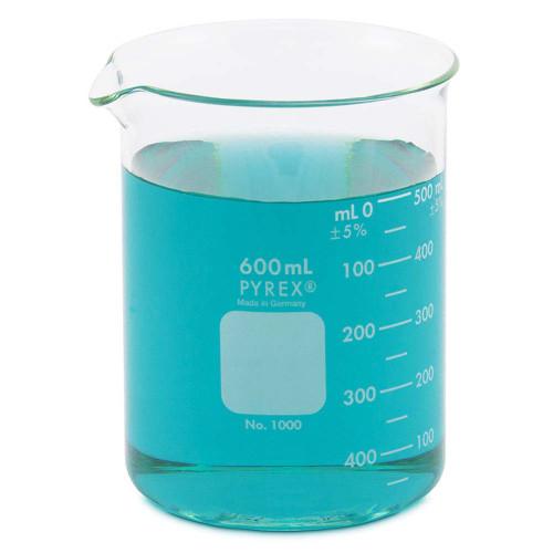 PYREX Beaker, Low Form, 600 ml