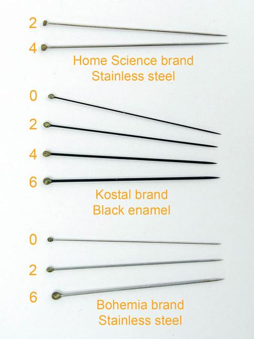 Insect Pins (entomological), size 6, black enamel