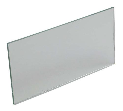 "Mirror, glass plane, 4""x 2"""