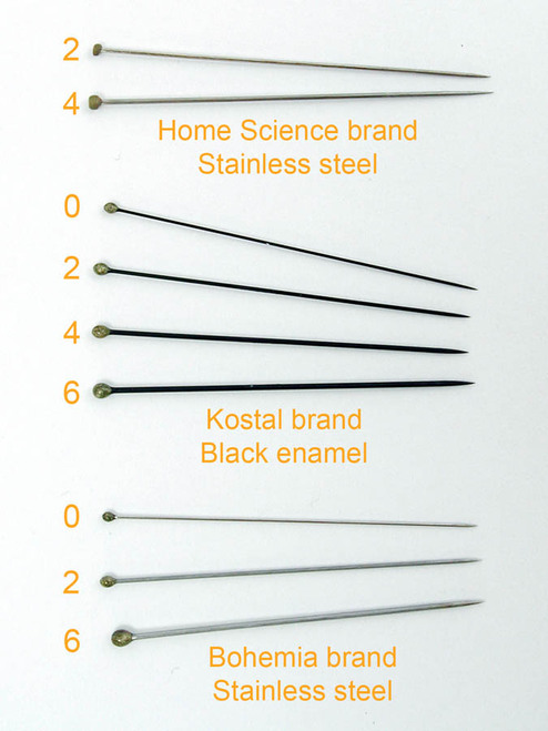 Insect Pins, size 2, stainless steel