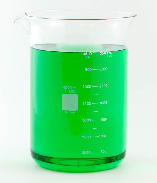 PYREX Beaker, Low Form, 4000 ml