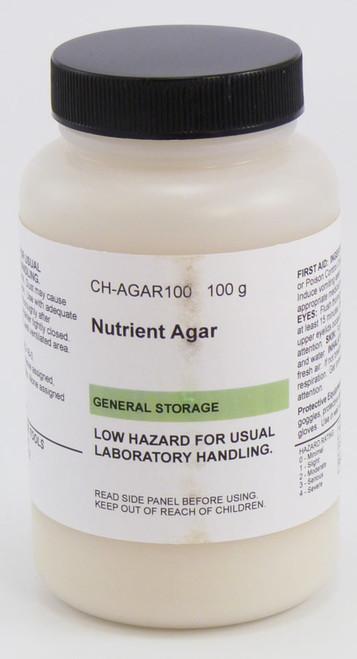 Agar, nutrient, 100 g, dehydrated