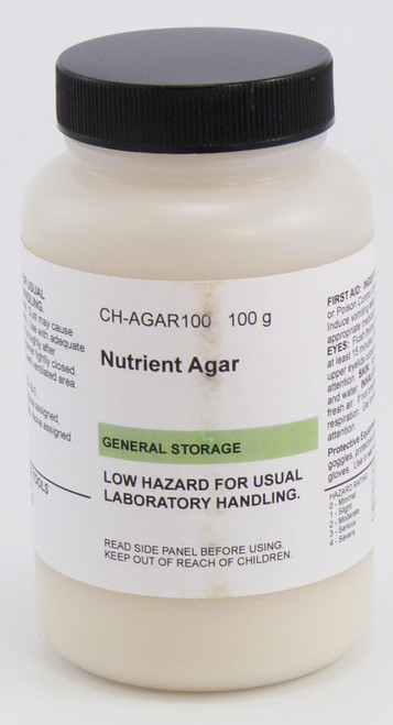 Agar, nutrient, 100 g, dehydrated