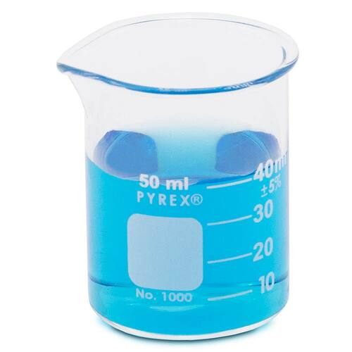 PYREX Beaker, Low Form, 50 ml