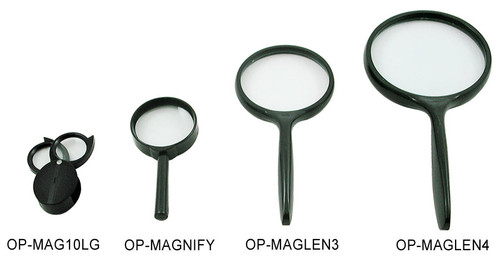 magnifying glasses in various sizes