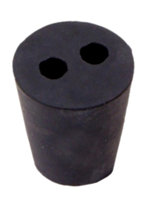 Rubber Stopper, #2, 2-hole