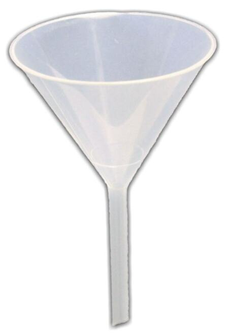 Funnel, plastic,  65 mm dia.