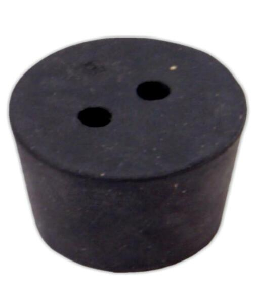 Rubber Stopper, #10, 2-hole