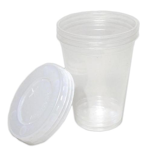 Cups & lids, 8 oz. plastic, 3 pack