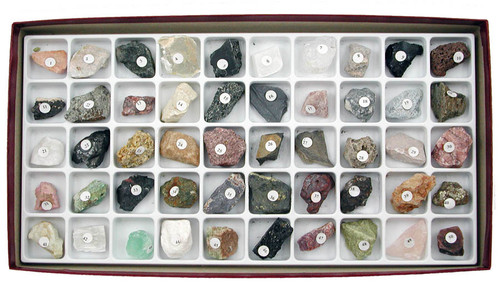 Classroom Collection of Rocks and Minerals, 50 Specimens