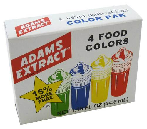 Food Coloring, 4 colors
