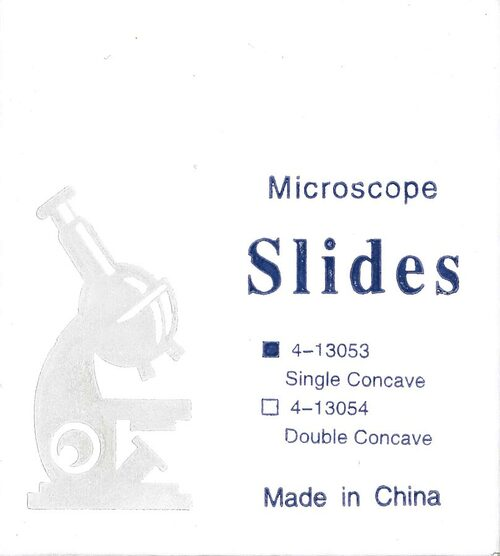Slides, single concavity, 72 /pack