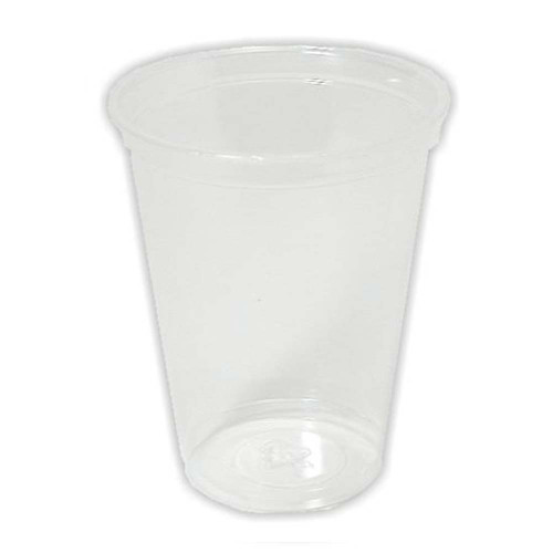 Cup, clear plastic, 9 oz, 3 pack