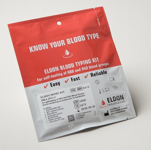 Eldoncard Blood Type Test Kit