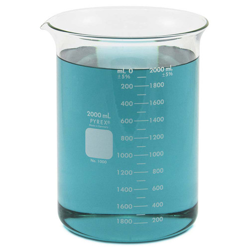 PYREX Beaker, Low Form, 2000 ml