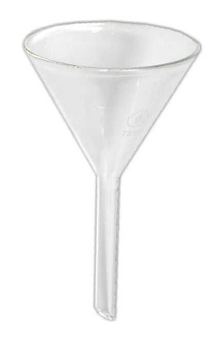 small glass funnel
