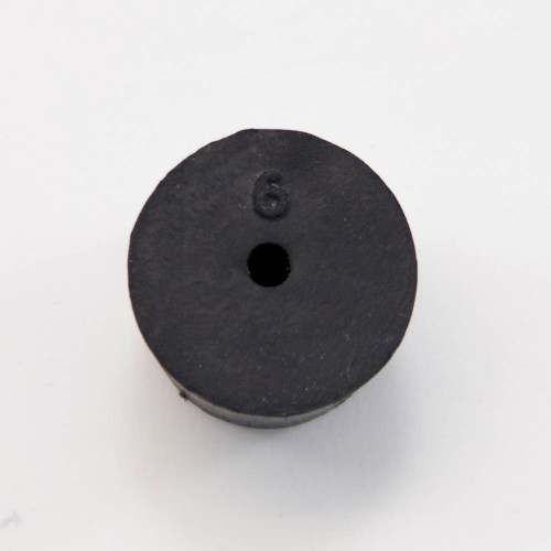Rubber stopper,  #6, 1-hole