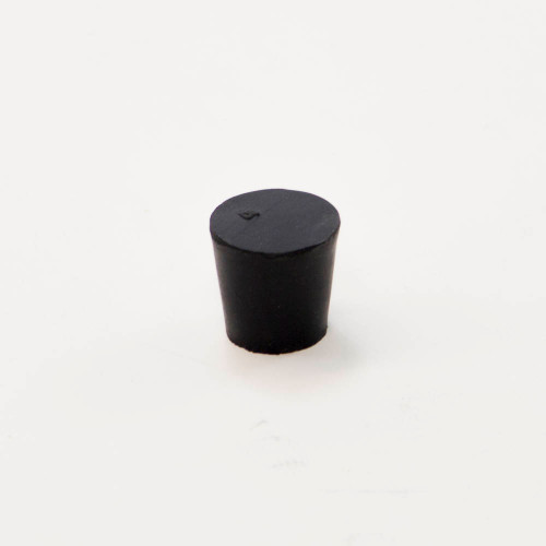 Rubber stopper,  #4, solid