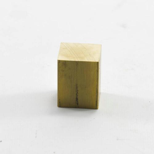 """Brass Square Piece, 1"""" X 1"""" X 1.25"""""""