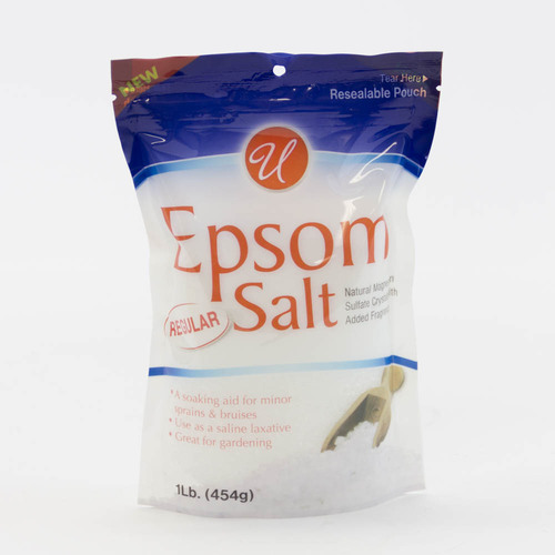 Epsom salt, food grade, 1 lb or 450 g