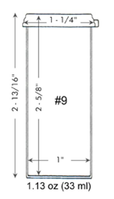 Vial, 33 ml, 9 dram, with cap