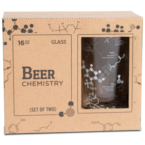 Science of Beer Pint Glass - 2 pack