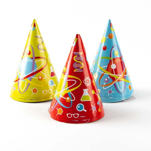 Science Party Hats, 8 Pack