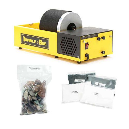 tumble-bee rotary rock tumbler polish kit