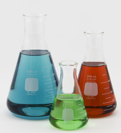 Pyrex Erlenmeyer Flasks 25 Ml To 4000 Ml