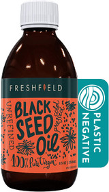 Freshfield Black Seed Oil: Up to 3X The Thymoquinone, Premium (Black Cumin Seed Oil, Nigella Sativa) | Cold Pressed | Vegan | Ultra Strength | Pure and 100% Natural. 8.5 oz