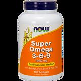 Super Omega 3-6-9 1200 mg - NOW Brand -  180 softgels