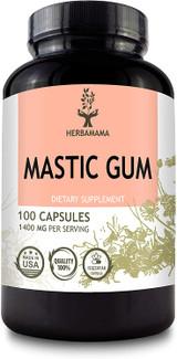 Mastic Gum 100 Capsules 1400 mg - HERBAMAMA