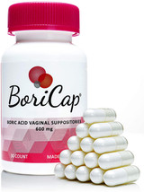 BoriCap Boric Acid Suppositories with Reusable Applicator - #30
