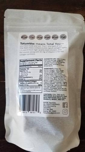 TotumVos Collagen Chews - Chai Beet