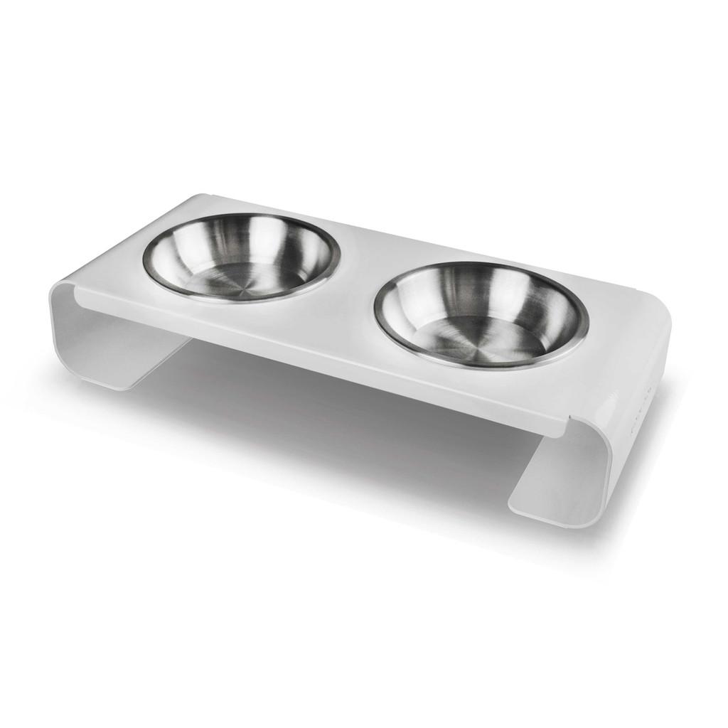 white-steel-raised-dog-feeder