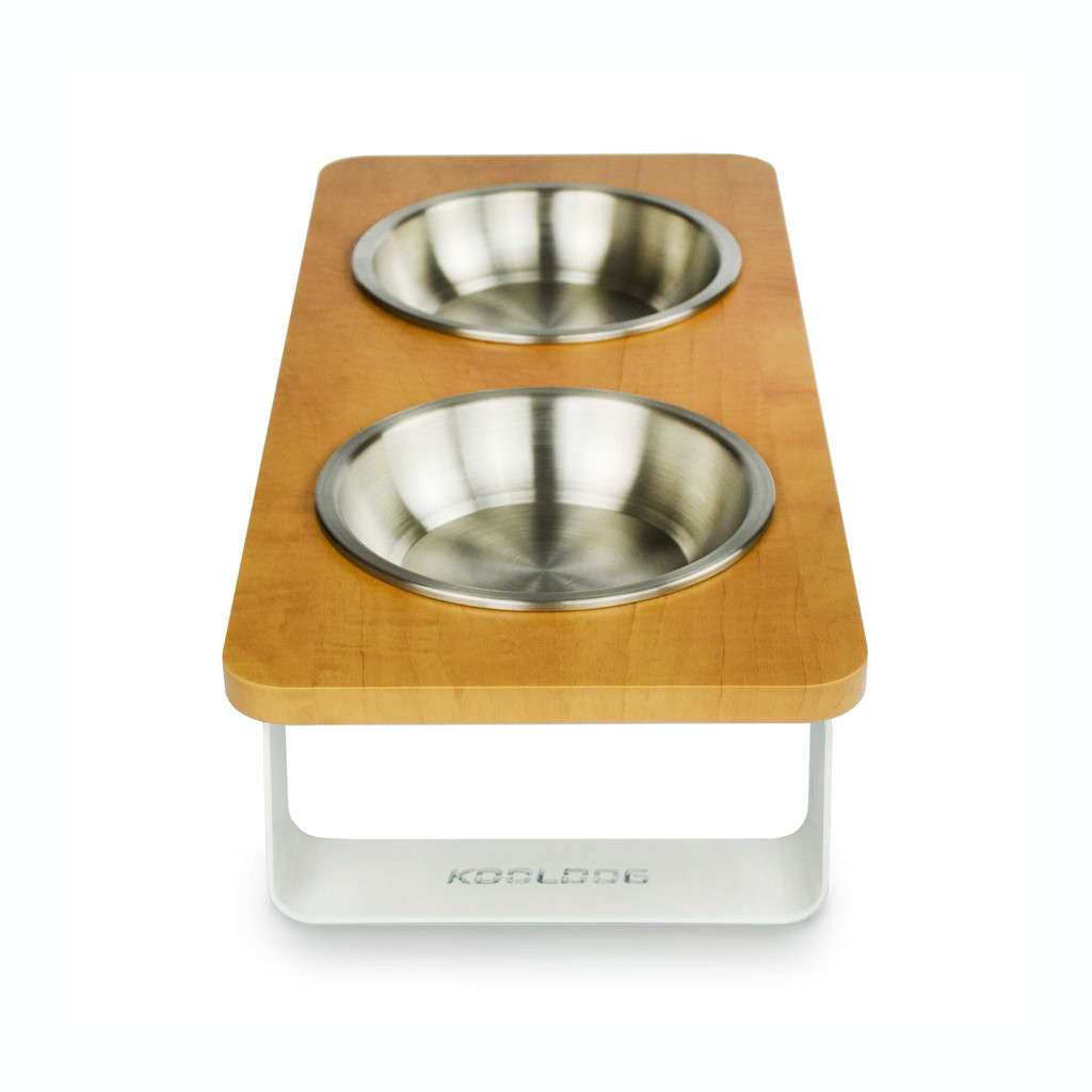 wood-top-white-metal-legs-raised-dog-feeder-side