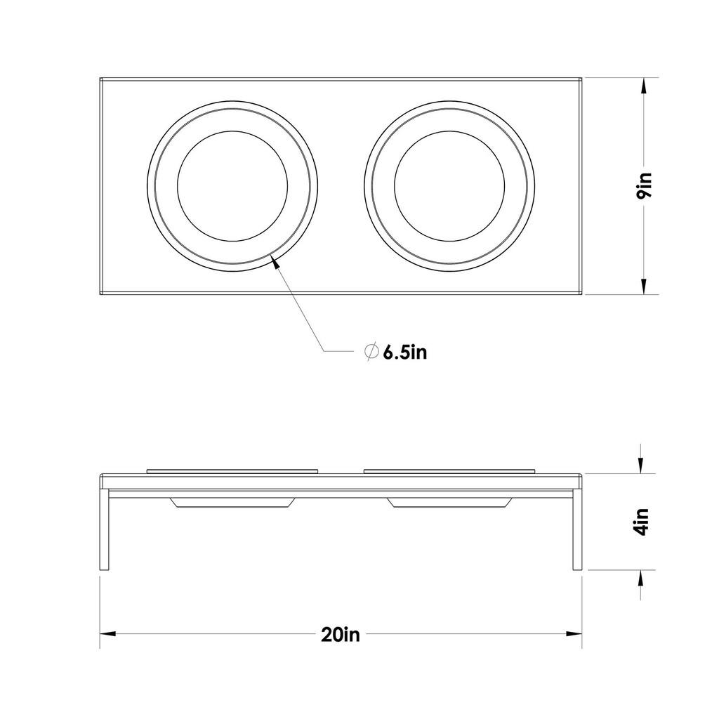 wood-top-black-frame-raised-dog-feeder-schematic