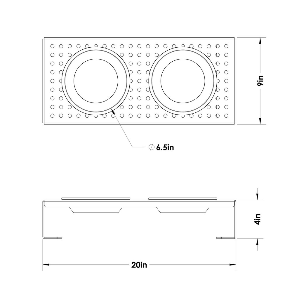 black-aluminum-raised-dog-feeder-schematic