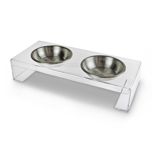 clear-acrylic-plastic-dog-cat-feeder-stainless-steel-bowl-perspective-view